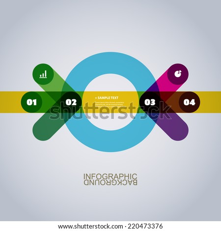 Modern Business Infographic Template Made of Abstract Arrows Shapes - stock vector
