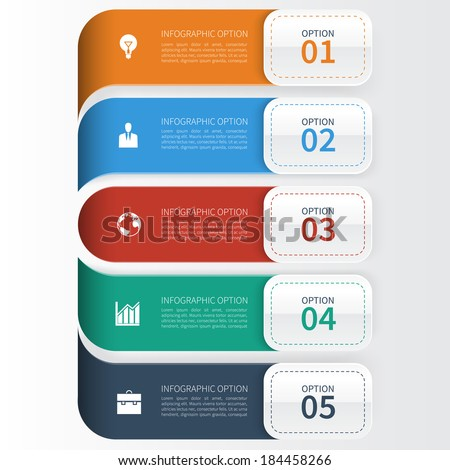 Modern Business  Infographics Template - stock vector