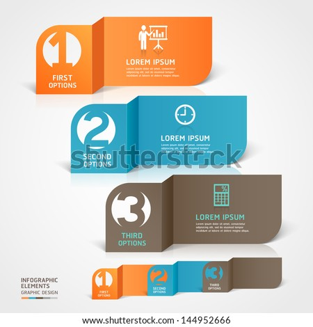 Modern business paper cut infographics element. Vector illustration. can be used for workflow layout, diagram, business step options, banner, web design, number template - stock vector