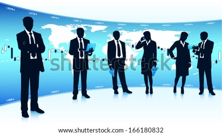 Modern business team - stock vector