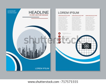 Modern Business Twosided Flyer Booklet Brochure Stock Photo Photo