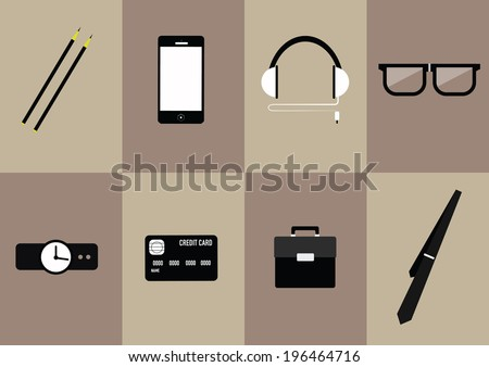 modern businessman concepts. flat icons.  vector illustration   - stock vector