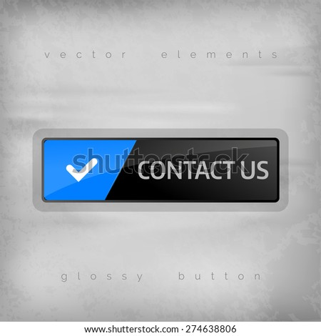 Modern button CONTACT with color space for icons. Vector design elements. - stock vector