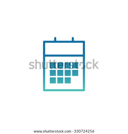 Modern calendar icon with colorful gradient. - stock vector