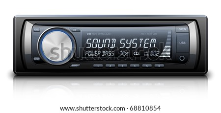 Modern Car Audio. Vector illustration - stock vector