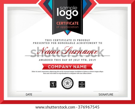 Modern Certificate Abstract Graphic Background Frame Stock ...