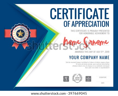 Modern certificate blue triangle shape background stock vector modern certificate blue triangle shape background frame design template yelopaper Image collections
