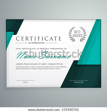 Modern Certificate Design With Abstract Geometric Shapes  Design Of Certificate Of Participation