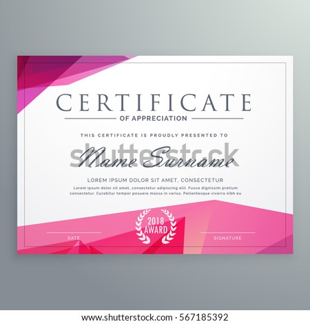 Modern Certificate Of Appreciation Creative Template  Creative Certificate Designs