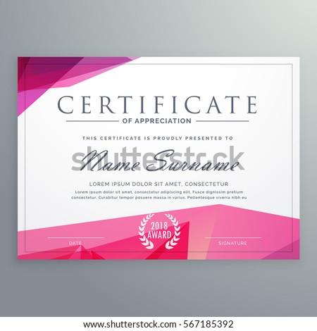 Modern Certificate Of Appreciation Creative Template  Creative Certificate Designs