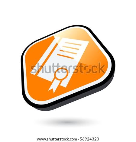 modern certificate sign - stock vector