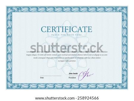 Modern Certificate. Template diplomas, currency. Vector - stock vector