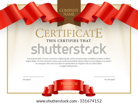 Modern Certificate. Template diplomas, currency. Vector - stock vector