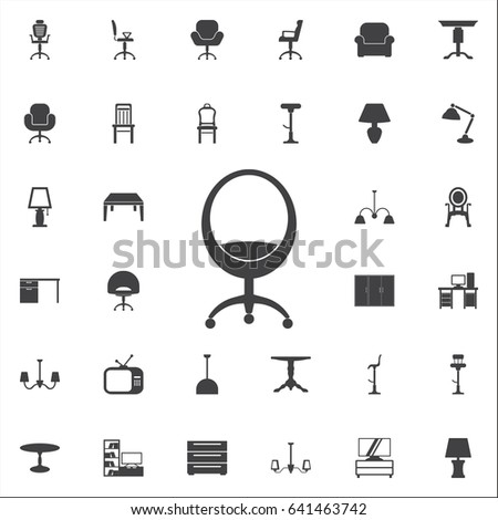 Modern Furniture Icon modern chair icon set furniture icons stock vector 641463742