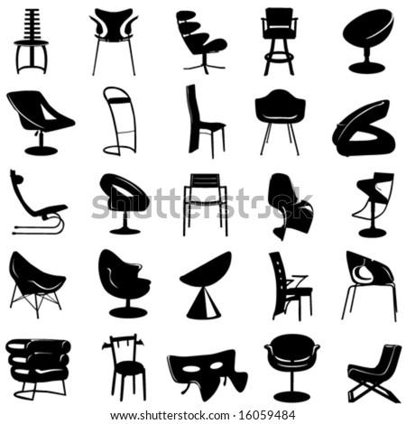 modern chair vector 2 - stock vector