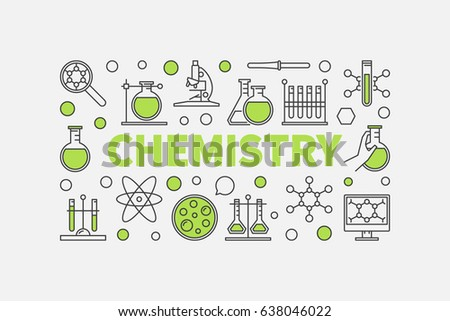 Modern chemistry illustration vector creative science stock vector modern chemistry illustration vector creative science background made with green word chemistry and chemical signs ccuart Images