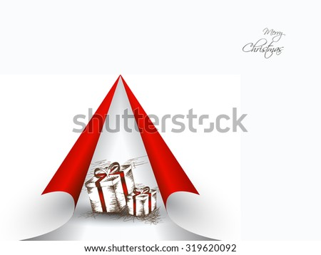 Modern Christmas background, eps10 vector illustration - stock vector