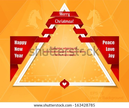 modern christmas new year border dark blue backdrop with flashes gift bows with
