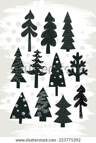 Modern Christmas tree - stock vector