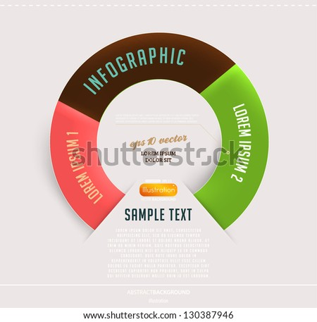 Modern circle infographic template for business design - stock vector