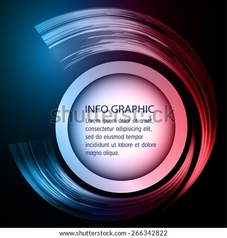 modern circle text box template for website computer graphic and internet, blue red background. Brochure. text box. banner. card. - stock vector