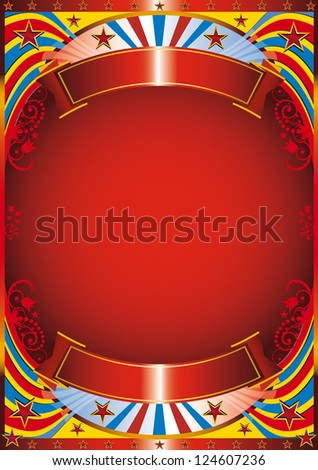 Modern circus. Circus background with a flourish frame - stock vector