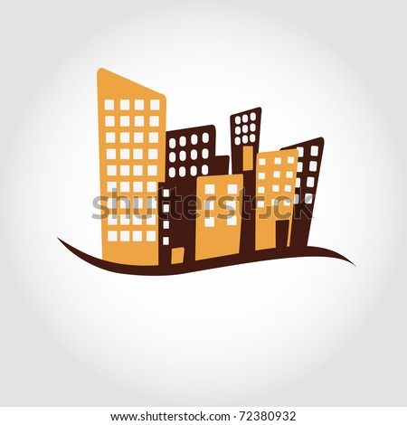 Modern city illustration - stock vector