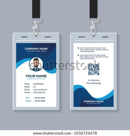 modern clean id card template stock vector 1036726678 shutterstock