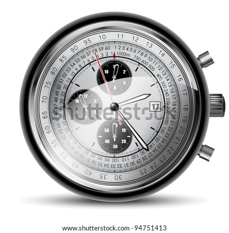 modern clocks - stock vector
