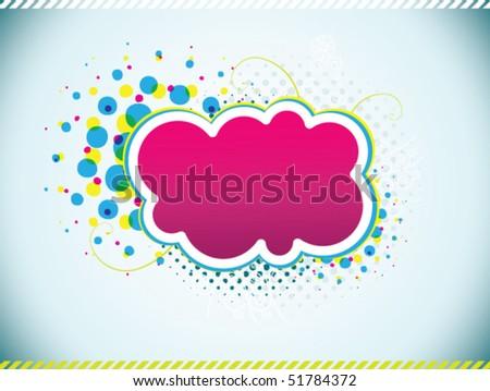 modern cloud - stock vector