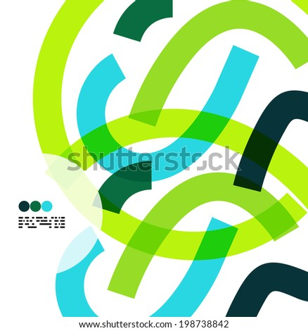 Modern color abstract lines isolated on white, business design elements - stock vector