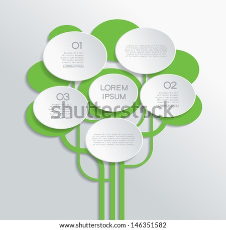 Modern color design. Abstract background in the form of a paper tree and text. File is saved in AI10 EPS version. This illustration contains a transparency   - stock vector