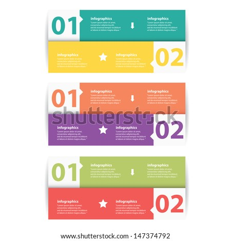 Modern color Design template / can be used for infographics / numbered banners / graphic or website layout vector