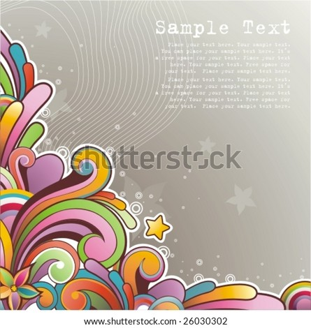 Modern colored background with free space for your text - stock vector