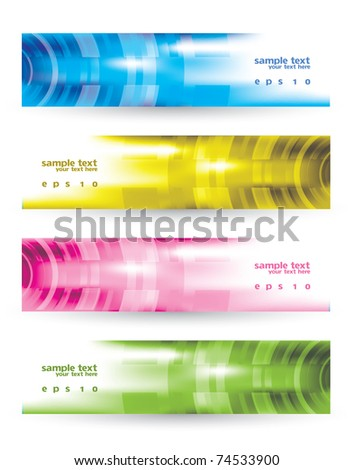 Modern Colorful Banner Set - stock vector
