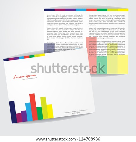 Modern Colorful Brochure Vector Design