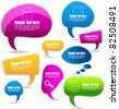 modern colorful speech bubbles - stock vector