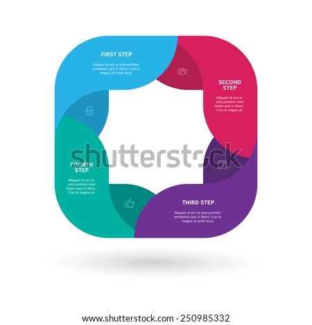 Modern colorful step by step infographics / eps10 vector illustration / - stock vector