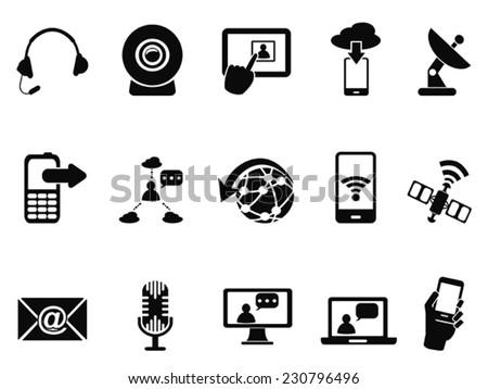 modern communication icons set - stock vector