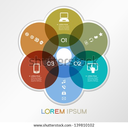 Modern communication technology banner. Vector illustration. Infographic template design - Original geometric shapes. Ideal to display data and informations with modern style. - stock vector