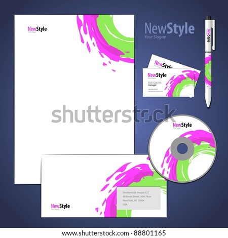 Modern Company Style Template - stock vector