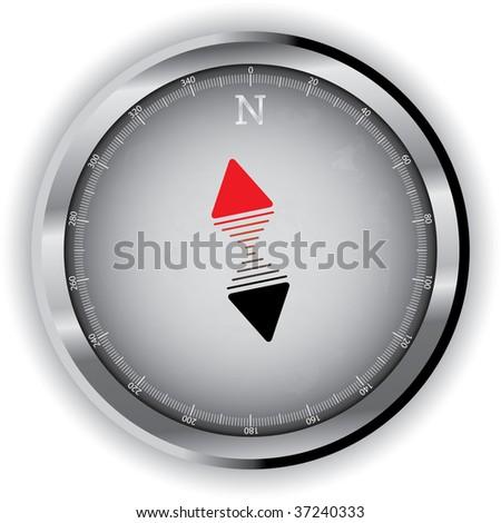 Modern compass - stock vector