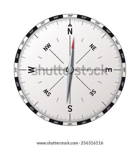 modern compass vector illustration with precise graphic - stock vector