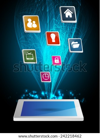 modern conceptual digital application social network design. computer graphic website internet.