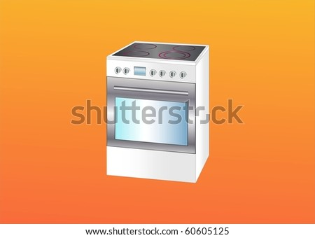 modern cooker ( background on separate layer ) - stock vector