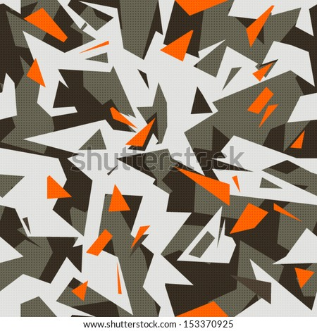 Modern Cool Camouflage Stock Vector 153370925 Shutterstock