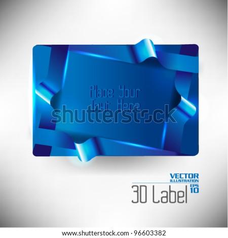 modern corporate three dimensional label vector design - stock vector