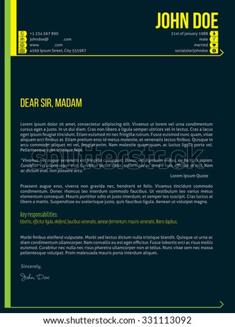 modern cover letter cv resume template design with arrows - What Is A Cover Letter On A Resume