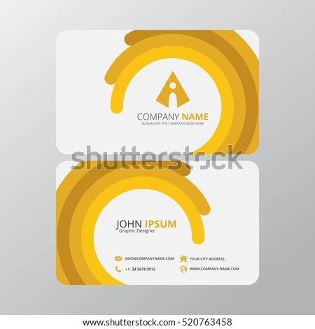Modern creative clean business card design stock vector 520763458 modern creative and clean business card design print templates flat style vector illustration reheart Image collections
