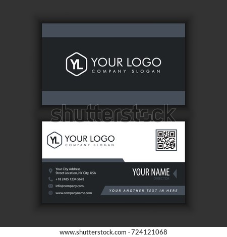 Modern creative clean business card template stock vector 724121068 modern creative and clean business card template with dark color colourmoves